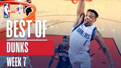 Лучшие данки седьмой недели регулярного чемпионата НБА
