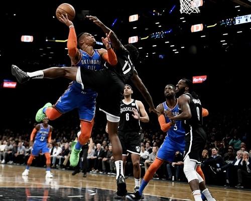 Уэстбрук вышел на третье место по количеству трипл-даблов в НБА