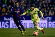 Хет-трик Месси помог Барселоне разгромить Леванте