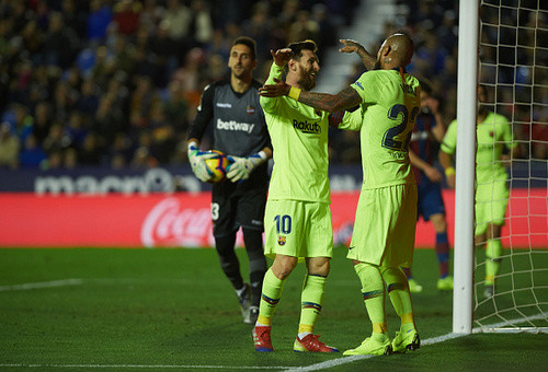 Леванте - Барселона - 0:5. Видео голов и обзор матча