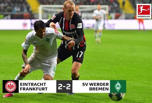 Айнтрахт и Вердер разделили очки в Бундеслиге
