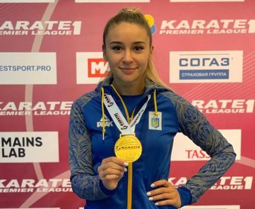 ВИДЕО. Украинская каратистка завоевала золотую медаль в Москве