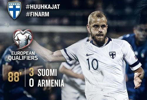 Группа J. Финляндия разгромила Армению