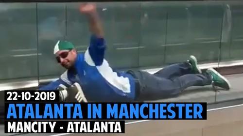 ВИДЕО. Фанаты Аталанты устроили перформанс в Манчестере