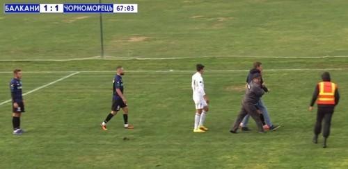 Балканы и Черноморец доиграли скандальный матч Первой лиги