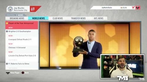 FIFA 20: Мбаппе 5 раз выиграет Золотой мяч к 2033 году