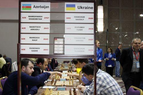 Мужская сборная Украины по шахматам стала серебряным призером командного ЧЕ