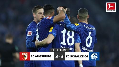 Шальке волевой победой над Аугсбургом ворвался в группу лидеров Бундеслиги