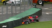 Пятница на Гран-при Бразилии: дождь, аварии, скорость Ред Булла и Феррари