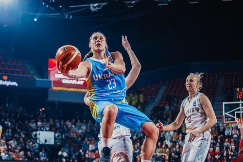 Украинки стартовали с поражения от Бельгии в отборе на Евробаскет
