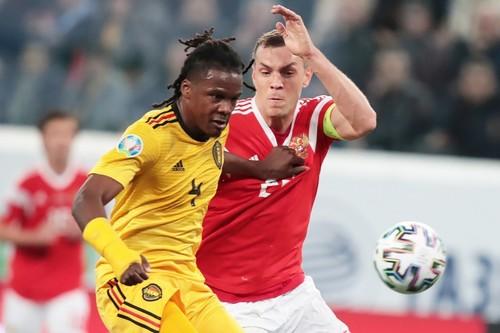 ФОТО. Игрок сборной Бельгии 16 минут матча с Россией играл не в своей форме