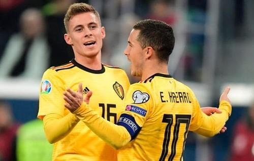 Азар вышел на второе место по голам за сборную Бельгии