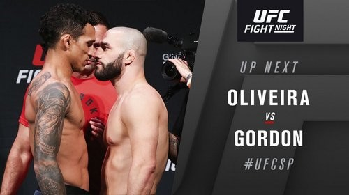 UFC Fight Night 164. Чарльз Оливейра – Джаред Гордон. Видео нокаута
