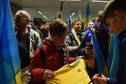 ФОТО. Как в Борисполе встречали сборную Украины по футболу