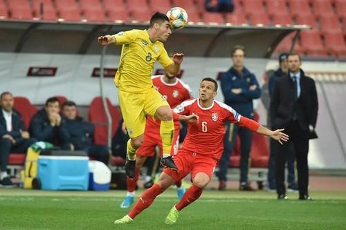 Сборная Украины впервые пропустила от Сербии на 369-й минуте