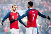 ВИДЕО. Изящный гол пяткой от Норвегии, ставший дебютным для Фоссума