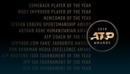 Названы претенденты на сезонные награды ATP
