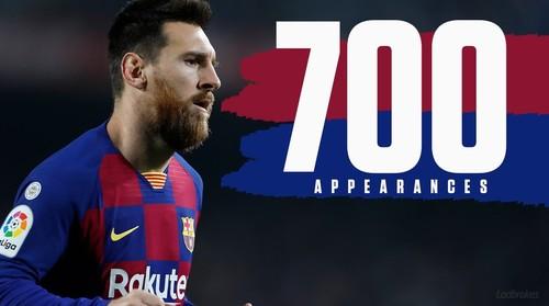 Месси проводит 700-й матч за испанскую Барселону