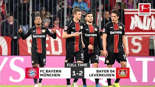 Бавария дома сенсационно уступила Байеру в Бундеслиге