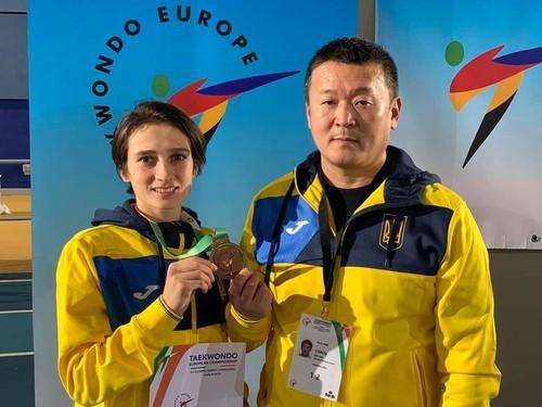 Украина завоевала две «бронзы» на чемпионате Европы по тхэквондо