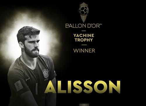 Алиссон – лучший вратарь 2019 года