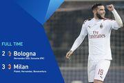 Милан с трудом обыграл Болонью, Эрнандес забил в свои и в чужие ворота