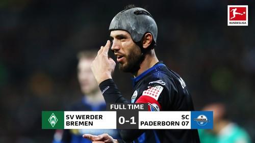 Падерборн сенсационно обыграл Вердер и ушел с последнего места Бундеслиги