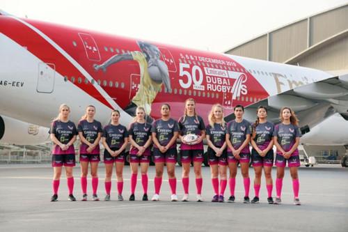 Фото украинской регбистки украсило самолет Fly Emirates - Юрий Голик