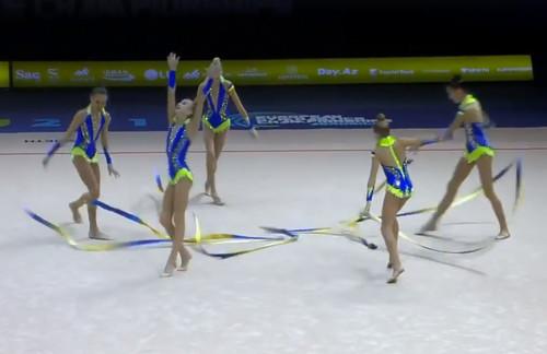 ВИДЕО. Украинские юниорки с пятью лентами вышли в финал ЧЕ
