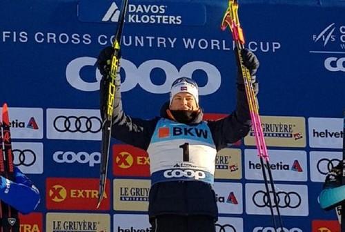 Лыжные гонки. Клэбо и Сванн выиграли спринт в Давосе