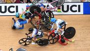 ВИДЕО. Жуткий завал на этапе КМ по велотреку в Брисбене