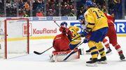 МЧМ по хоккею. Россия в напряженном матче обыграла Швецию и вышла в финал