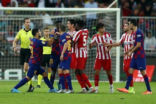 Атлетико мадрид барселона голы онлайнi