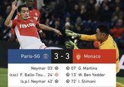 Триллер! ПСЖ и Монако выдали феерический матч, забив по три гола