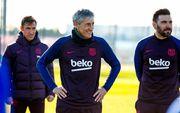 ФОТО. Сетьен провел первую тренировку в Барселоне