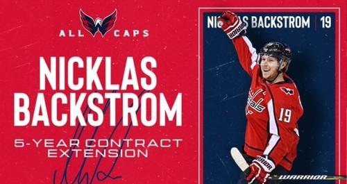 НХЛ. Вашингтон сохраняет лидеров. Бэкстрем подписал новый контракт