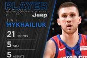 Михайлюк выдал еще один топ-матч в НБА. Украинец набрал хорошую форму