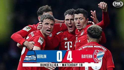 Бавария забила 4 безответных гола в ворота Герты и вышла на 2-е место