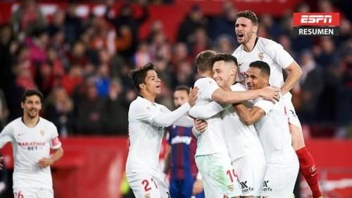 Севилья взяла верх над Леванте и пробилась в 1/8 финала Кубка Испании