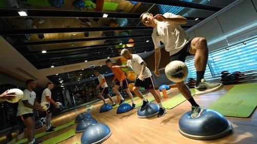 Шахтер в Турции: тренировка в фитнес-зале