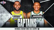 НБА объявила стартовые пятерки на Матч всех звезд-2020