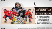 НХЛ назвала пятерку лучших игроков и вратаря 10-летия