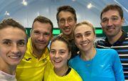 ФОТО. Шевченко потренувався з українськими зірками тенісу