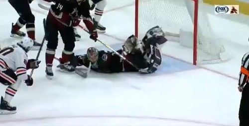 ВІДЕО. Воротар з НХЛ повторив легендарний «Удар скорпіона»