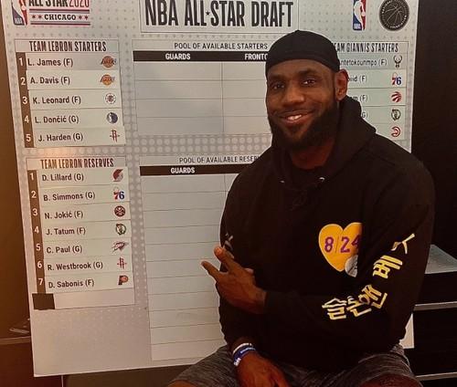 Джеймс и Адетокунбо провели драфт игроков на Матч звезд НБА