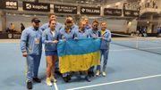 ФОТО. Збірна України після перемоги над Естонією в Кубку Федерації