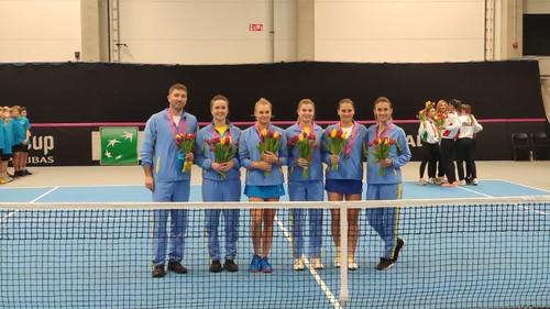 ФОТО. Как сборная Украины по теннису Эстонию покоряла