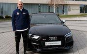 ФОТО. Зидан попал в ДТП на Audi, но все благополучно обошлось