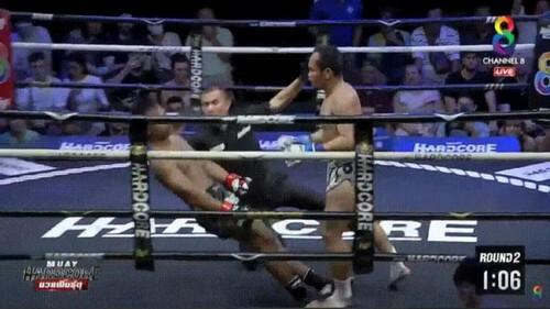 ВІДЕО. Брутальний тайський бокс! Неймар був нокаутований, суддя впав з ним