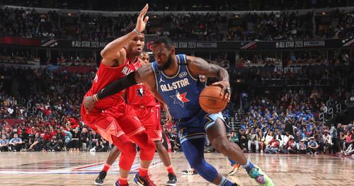 Блок Янниса Леброну в топ-10 лучших моментов Матча звезд НБА